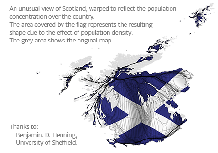 Scotland Cartogram